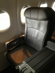 The leather seats in all classes are comfortable and spacious.