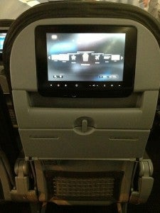Seats in both First Class and the Main Cabin have in-flight entertainment.