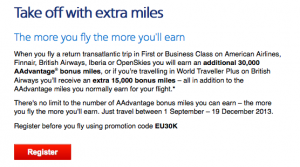 American Airlines Take Off Promo