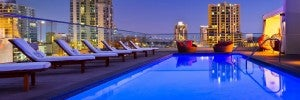 Rooftop pool at the Andaz San Diego.