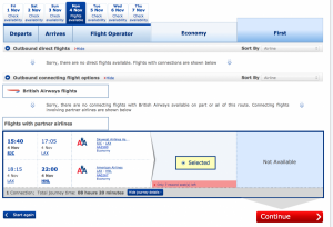 Alaskan Airlines availability does not show online