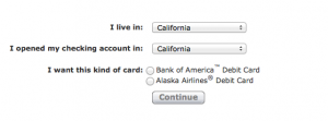 Bank Of America Alaska Airlines Debit Card