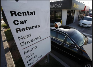 Off airport rentals can save you money.