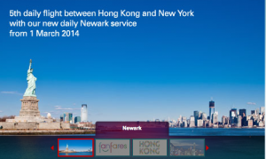 Cathay Pacific announces Hong Kong-Newark service.