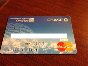 My Continental Airlines debit card is a plastic slice of history.
