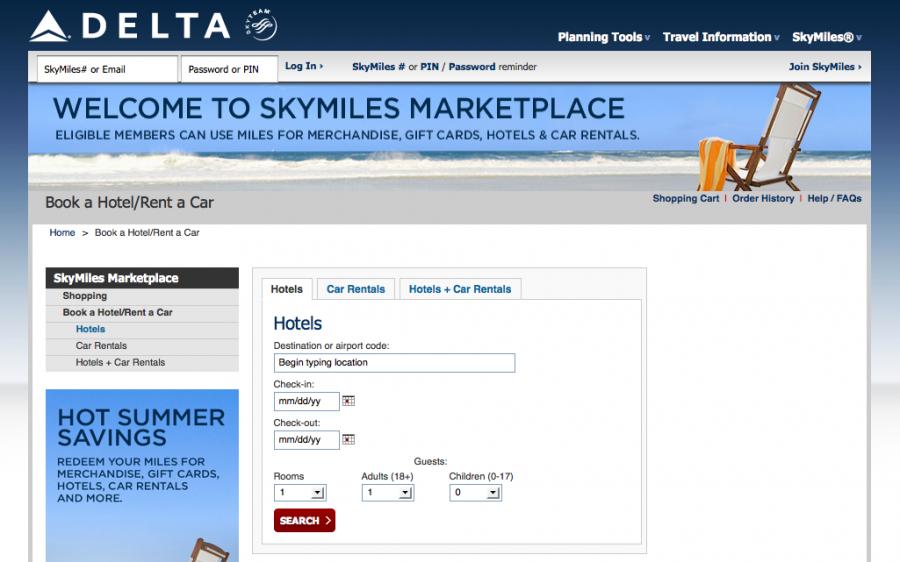 Delta Skymiles Marketplace
