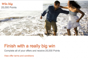 Earn 25,000 bonus miles once you complete all your offers by December 31, 2013.