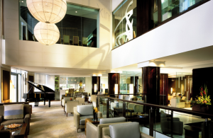 The Lobby Lounge of the Shangri-La Sydney.