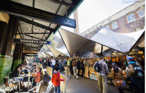 The market at The Rocks.