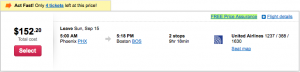The cheapest flight on Orbitz for Phoenix to Boston takes over 9 hours!