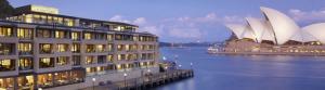 The newly-refurbished Park Hyatt is located on Sydney's historic The Rocks area.