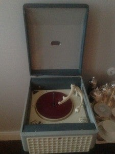 There was even a record player with records to listen to.
