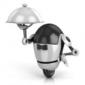 One of the more...eccentric readers suggested champagne-pouring robots.