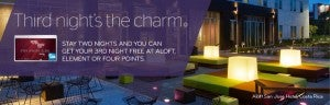SPG Amex cardholders receive the 3rd night free.