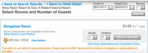 $149 per night at the Boca Raton Resort.