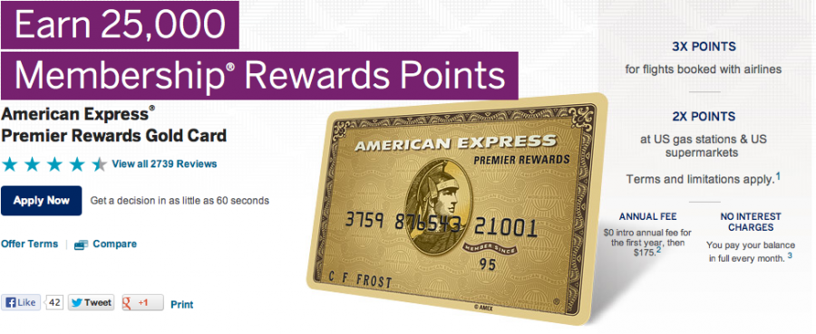 American Express Credit Card Promotions: December By Sarah Johnson. The American Express Gold Card has a $ annual fee. You can earn 25, Membership Rewards points after you use your new card to make $2, on eligible purchases within your first 3 months.