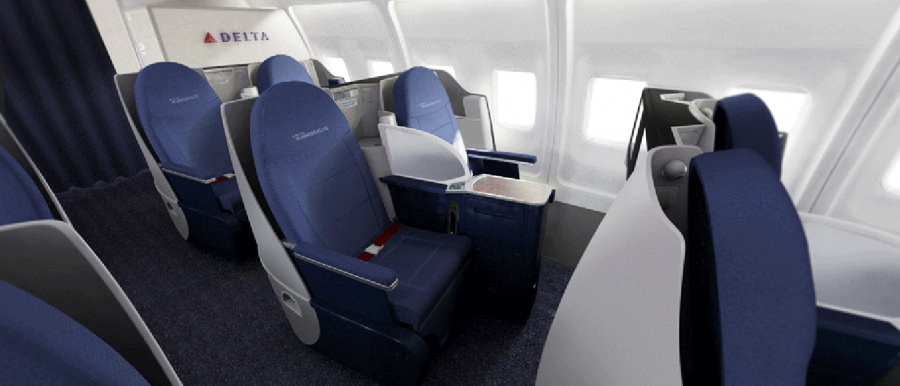Delta Unveils New 757 200 Transcon Interior Upgrade