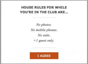Soho House Berlin rules for non-members.