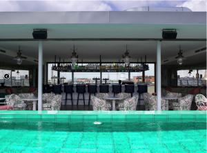 Heated pool on The Rooftop.
