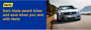 Earn triple United miles with Hertz.