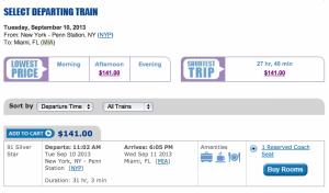 NYC to Miami coach