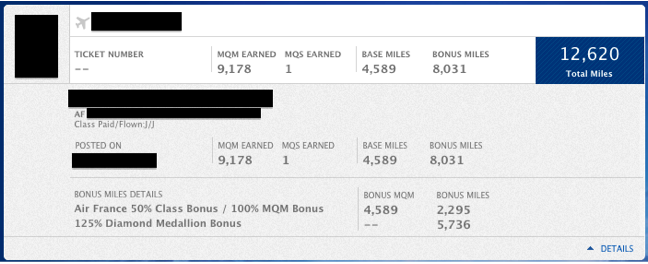 Not only did my friend get mileage credit, but also class of service and elite bonuses.