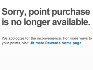 Chase already pulled the ability to buy points online, and in November, you won't be able to purchase them at all.