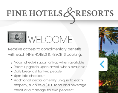 Unlike booking through other sites, you can earn points through FHR.