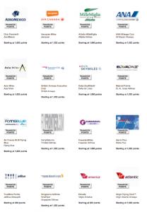 Membership Rewards has 16 airline partners.