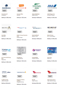 Membership Rewards has 16 airline partners.