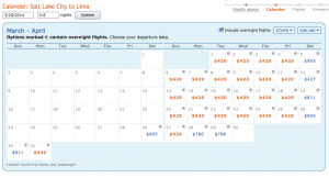 Fares from SLC start at about $420 and run all through April.