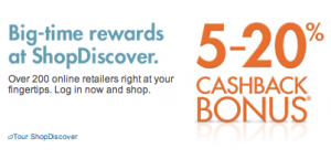 ShopDiscover allows you to earn 5-20% Cashback from over 200 retailers.