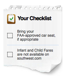 Southwest doesn;t offer child or infant fares.