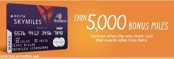 Suntrust issues the Delta SkyMiles debit card.