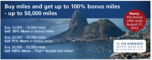 Lucrative 100% buy miles bonuses will likely disappear.