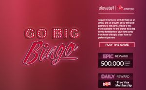 Play Virgin Atlantic's Go Bingo sweepstakes now through September 6, 2013.