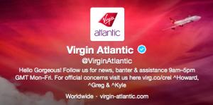 Virgin Atlantic is very active on Twitter.