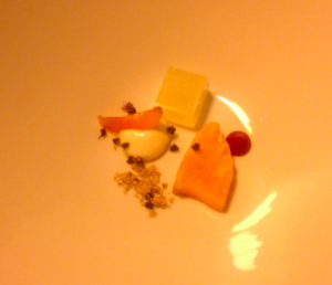 The amuse was a nice little selection to get us started.