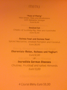 The four course menu at Volt had it all.
