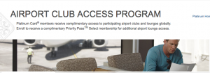 One of the great perks of the Platinum Card is the Airport Club Access Program.