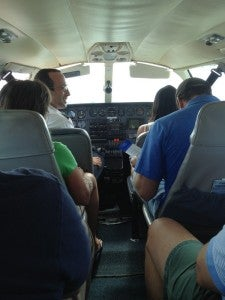 I wedged myself in a Cape Air Cessna for my trip to Vieques, Puerto Rico