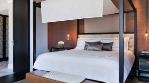King guest room at the Four Seasons Hotel Sydney.