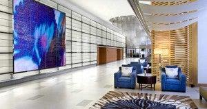 Lobby area at the Hilton San Diego Bayfront.