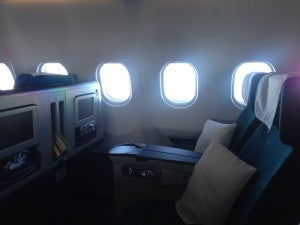 The business class cabin was only about 35% full.