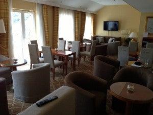 Club lounge seating area.