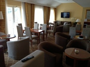 Club lounge seating area.