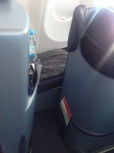 Super narrow entrance into the seat.
