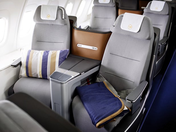 New Lufthansa business class is lie-flat, but not private