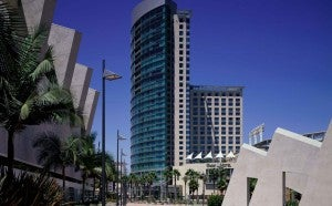Exterior of the The Omni Hotel San Diego.