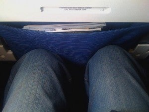 """Spirit Airlines """"pre-reclined"""" seat courtesy of wired.com"""